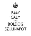 KEEP CALM AND BOLDOG SZÜLINAPOT - Personalised Tea Towel: Premium