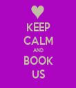 KEEP CALM AND BOOK US - Personalised Tea Towel: Premium