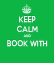 KEEP CALM AND BOOK WITH  - Personalised Tea Towel: Premium