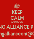 KEEP CALM AND BOOK YOUNG ALLIANCE PHOTO www.youngallianceent@Gmail.com - Personalised Tea Towel: Premium