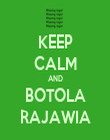 KEEP CALM AND BOTOLA RAJAWIA - Personalised Tea Towel: Premium