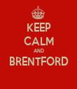 KEEP CALM AND BRENTFORD  - Personalised Tea Towel: Premium