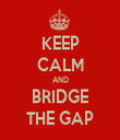KEEP CALM AND BRIDGE THE GAP - Personalised Tea Towel: Premium