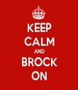 KEEP CALM AND BROCK ON - Personalised Tea Towel: Premium