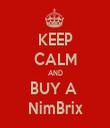 KEEP CALM AND BUY A  NimBrix - Personalised Tea Towel: Premium