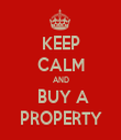 KEEP CALM AND  BUY A PROPERTY - Personalised Tea Towel: Premium