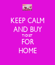 KEEP CALM AND BUY TICKET  FOR HOME - Personalised Tea Towel: Premium