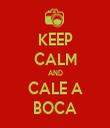 KEEP CALM AND CALE A BOCA - Personalised Tea Towel: Premium