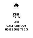 KEEP CALM AND CALL 0118 999  88199 9119 725 3 - Personalised Tea Towel: Premium