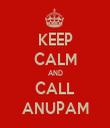 KEEP CALM AND CALL ANUPAM - Personalised Tea Towel: Premium