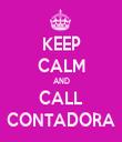 KEEP CALM AND CALL CONTADORA - Personalised Tea Towel: Premium