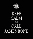 KEEP CALM AND CALL JAMES BOND - Personalised Tea Towel: Premium