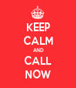 KEEP CALM AND CALL NOW - Personalised Tea Towel: Premium