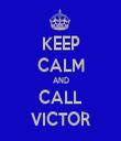 KEEP CALM AND CALL VICTOR - Personalised Tea Towel: Premium