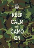 KEEP CALM AND CAMO ON - Personalised Tea Towel: Premium