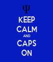 KEEP CALM AND CAPS ON - Personalised Tea Towel: Premium