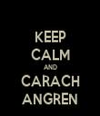 KEEP CALM AND CARACH ANGREN - Personalised Tea Towel: Premium