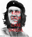 KEEP CALM AND CARE SARIGÜL - Personalised Tea Towel: Premium