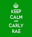 KEEP CALM AND CARLY RAE - Personalised Tea Towel: Premium