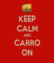 KEEP CALM AND CARRO ON - Personalised Tea Towel: Premium