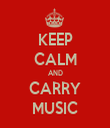 KEEP CALM AND CARRY MUSIC - Personalised Tea Towel: Premium