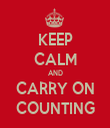KEEP CALM AND CARRY ON COUNTING - Personalised Tea Towel: Premium