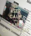 KEEP CALM AND CARRY ON PRINCESS - Personalised Tea Towel: Premium