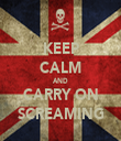 KEEP CALM AND CARRY ON SCREAMING - Personalised Tea Towel: Premium
