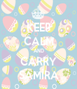 KEEP CALM AND CARRY SAMİRA - Personalised Tea Towel: Premium