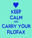 KEEP CALM AND CARRY YOUR FILOFAX - Personalised Tea Towel: Premium