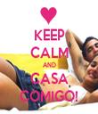 KEEP CALM AND CASA COMIGO! - Personalised Tea Towel: Premium