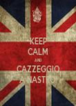 KEEP CALM AND CAZZEGGIO A NASTRO! - Personalised Tea Towel: Premium