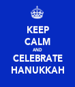 KEEP CALM AND CELEBRATE HANUKKAH - Personalised Tea Towel: Premium