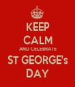 KEEP CALM AND CELEBRATE ST GEORGE's DAY - Personalised Tea Towel: Premium