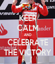 KEEP CALM AND CELEBRATE THE VICTORY - Personalised Tea Towel: Premium