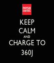 KEEP CALM AND CHARGE TO 360J - Personalised Tea Towel: Premium