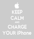 KEEP CALM AND CHARGE YOUR iPhone - Personalised Tea Towel: Premium