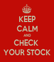 KEEP CALM AND CHECK  YOUR STOCK - Personalised Tea Towel: Premium