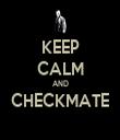 KEEP CALM AND CHECKMATE  - Personalised Tea Towel: Premium