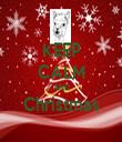 KEEP CALM AND Christmas  - Personalised Tea Towel: Premium