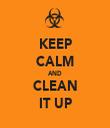 KEEP CALM AND CLEAN IT UP - Personalised Tea Towel: Premium