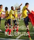 KEEP CALM AND COLOMBIA HIJUEPUTA - Personalised Tea Towel: Premium