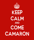 KEEP CALM AND COME CAMARON - Personalised Tea Towel: Premium