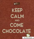 KEEP CALM AND COME  CHOCOLATE  - Personalised Tea Towel: Premium