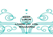 KEEP CALM AND COME TO THE WEDDING - Personalised Tea Towel: Premium