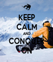KEEP CALM AND CONQUER ON - Personalised Tea Towel: Premium