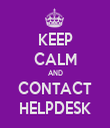 KEEP CALM AND CONTACT HELPDESK - Personalised Tea Towel: Premium