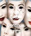Keep CALM AND Continue Lying - Personalised Tea Towel: Premium