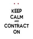 KEEP CALM AND CONTRACT ON - Personalised Tea Towel: Premium