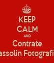 KEEP CALM AND Contrate Massolin Fotografias - Personalised Tea Towel: Premium